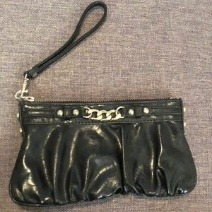 Fun express black clutch/wristlet